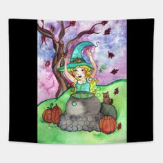 Tapestries by fairychamber Whimsical Art, Wall Tapestry, Shirt Designs, Illustration Art, Fantasy, Tapestries, Halloween, Shirts, Fantasia