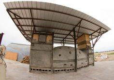 David Peters.  The Chubby Train wood kiln, Montana State University.  2013