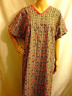 Hospital Gown for Bed bound Post Surgery FLANNEL Gown Fits Regular ...