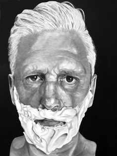 """""""Selfi on canvas painting by wilfried ploderer 2015 © 2 Pencil, Lee Jeffries, Canvas, Painting, Art, Tela, Art Background, Painting Art, Canvases"""