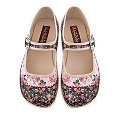 Hot Chocolate Design Chocolaticas Pandora Women's Mary Jane Flat US 6 Multicoloured: Amazon.co.uk: Shoes & Bags