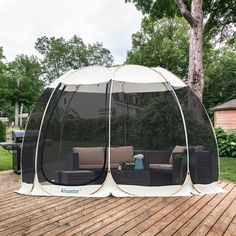 Screen House Outdoor Pop Up Canopy Tent Patented – Alvantor Pop Up Canopy Tent, Canopy Outdoor, Outdoor Decor, Outdoor Rooms, Tent Camping, Outdoor Camping, Outdoor Gym, Family Camping, Glamping