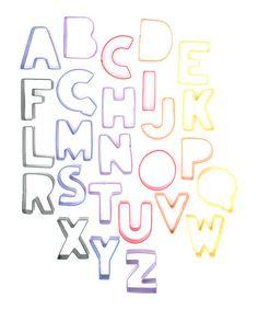 Love this Alphabet Cookie Cutter Set on #zulily! #zulilyfinds