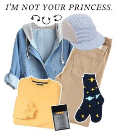 """""""i'm not your princess"""" by fae-enby ❤ liked on Polyvore featuring moda, AG Adriano Goldschmied, Larose, denim, cap, cigarettes, piercing y baseballcap"""