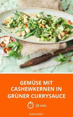 Gemüse mit Cashewkernen in grüner Currysauce