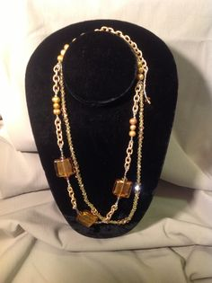 """""""Gold Glass"""", Lot's of Class!  For the Professional, Gold Glass Foil Beads, Swarovski crystals, Celestial crystals, Delicas's and gold tone chain. email: gracebeadeddesign@gmail.com"""