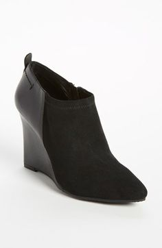 Vince Camuto bootie at Nordstrom: not too high, comfy wedge. That's a must for me.