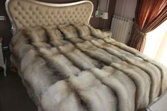 Fur Bed..i love this room