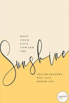 Iphone Wallpaper, Keep your face toward the sunshine, Iphone home- lock screen Combo,