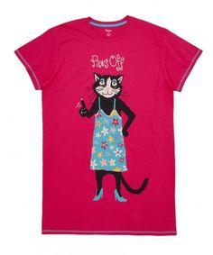 Hatley Paws Off Cat One Size Sleepshirt