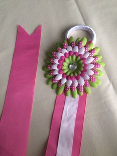 A personal favorite from my Etsy shop https://www.etsy.com/listing/231025511/pink-white-and-green-bow-holder