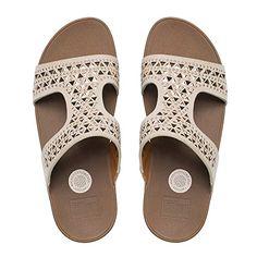 7513380b4af FitFlop Womens CarmelTM Suede Slide Sandals Rose Gold9B -- Click on the  image for additional
