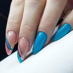 Installation of acrylic or gel nails - My Nails Fancy Nails, Cute Nails, Pretty Nails, Easter Nail Designs, Nail Art Designs, Shellac Nails, Acrylic Nails, Coffin Nails, Short Almond Nails