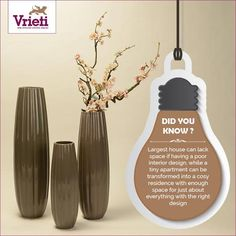 #DidYouKnow #Vrieti  Transform Your Home With the Right Kind of #HomeDecor with #vrieti. Explore now: www.vrieti.com  #HomeInteriors #BeautifulInteriors