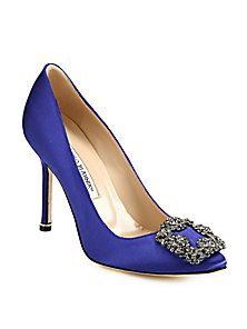 Manolo Blahnik - Hangisi 105 Satin Pumps