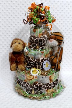 Pin Baby Diaper Cake Zoo Animals Tiger Lion Theme Jungle Shower Gift Or Cake on Pinterest