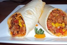 Retete Culinare - Burritos cu carne tocata