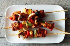 Tempeh Kebabs with Homemade Barbecue Sauce, a recipe on Food52