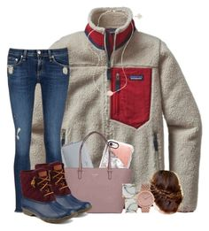 """""""bowling for kisses """" by wiinter-blue on Polyvore featuring Gap, Patagonia, MICHAEL Michael Kors, rag & bone/JEAN, Casetify, Kate Spade, Sperry, Vince Camuto and Kendra Scott"""