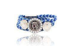 Bracelet Tressé Chic en solde  Bracelet tressé chic, c'est un bracelet composé de trois rangées  avec  trois motifs au centre. C'est un cadeau parfait pour vos amies et familles.