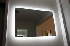 "Lighted Image is excited to present the LED Exquisite Illuminated Mirror in a new smaller size. Our stunning LED illuminated mirror is now available in a smaller 36""W x 30""H size and is a perfect fit for your space. This LED mirror features a LED border around the outer edge of the Mirror. The LED lighting in this backlit mirror provides sufficient light for a wide variety of applications and is beautiful."