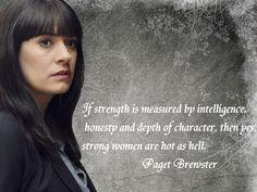 Paget Brewster aka Emily Prentiss