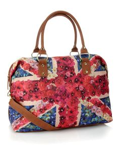Digital Floral Union Jack  -- perfect for weekend trips while in London???