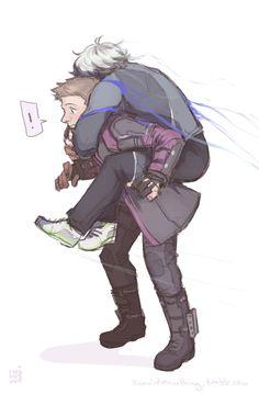 Clint x Pietro piggyback fanart by yummidoesnothing
