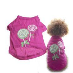 Vktech Cute Lollipop Hot Pet Dogs Cotton Printed Clothes T Shirt Apparel Dress Puppy - http://www.thepuppy.org/vktech-cute-lollipop-hot-pet-dogs-cotton-printed-clothes-t-shirt-apparel-dress-puppy/