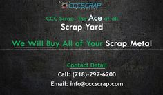 Call us Phone: -Best Aluminium Scrap Metals buyers in USA.Get Aluminium Scrap Metal Prices in New York City, Sell Aluminium Scrap Metal in NYC, We buy scrap metals and pay Top Dollars. Scrap Recycling, Recycling Services, Metal Prices, Waste Paper, Long Island, Electronic Scrap, Yards, City, Brooklyn
