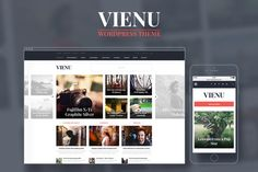 Check out Vienu Blog/Magazine Wordpress Theme by Mockup Zone on Creative Market