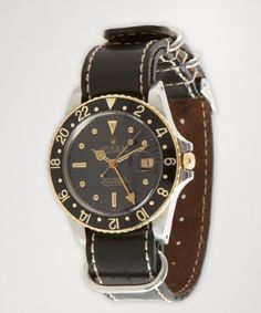 Rolex:  vintage stainless steel and 18k gold 'GMT Master' watch