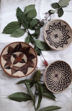 Excited to share this item from my #etsy shop: Baskets of africa/African baskets/wall hanging set of 3 Tonga and banana fibre basket/woven hanging wall/woven binga art/decorative baskets/