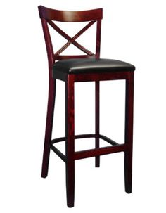 74 Beechwood X Back Bar Stool