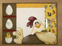 Arte Brasil   Jogo Americano de Galinha - Priscila Muller