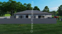 3 Bedroom House Plan MLB 008.1S - My Building Plans South Africa My House Plans, Bedroom House Plans, My Building, Building Plans, Architect Fees, Guest Toilet, Open Plan Living, Windows And Doors, Master Suite