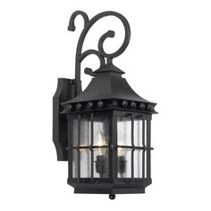 Taos Outdoor Wall Lantern In Espresso Finish With Seeded Glass by Elk Lighting Group