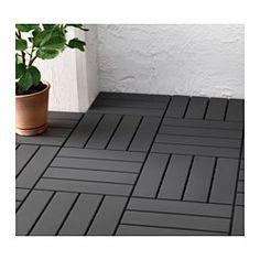 RUNNEN Floor decking, outdoor, dark gray - IKEA