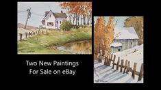 2 Original Line and Wash Watercolors by Peter Sheeler. For sale on eBay. Peter Sheeler, Sale On, Paintings For Sale, Watercolors, Pond, Auction, Youtube, Ebay, Art