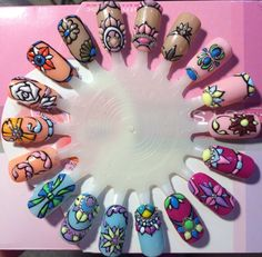 Perfect Nails, Gorgeous Nails, Nail Courses, Nail Art Wheel, Nail Art Techniques, Nail Patterns, Beautiful Nail Designs, 3d Nails, Flower Nails