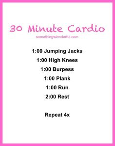 Simple but deadly 30 minute cardio workout.