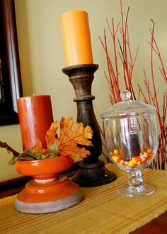 fall theme...dining room buffet