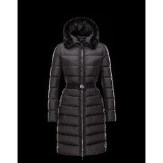 Outlet Moncler FABREFUR Detachable Turtleneck Noir Blouson Polyester/Beaver Femme 41456774HQ Pas Cher