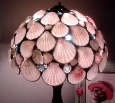 Shell Lamp Shade: Sea Shells Lamp Shade Tropical Pink Sea Shells Beach Home Decor Lighting,Lighting