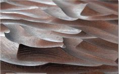 CNC routed wood surface