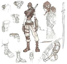 Borderlands - Mordecai the Hunter concept art