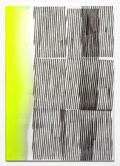 Nathan Hylden · Untitled (black/yellow 1), 2008