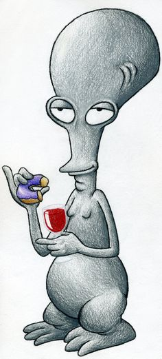 Roger from American Dad by scottscottscott.deviantart.com