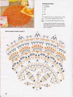 Best 12 Kira scheme crochet: Scheme crochet no. Filet Crochet, Crochet Stitches Chart, Crochet Doily Diagram, Crochet Doily Patterns, Thread Crochet, Irish Crochet, Crochet Doilies, Knit Crochet, Crochet Round