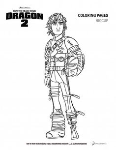 How to train your dragon 2 Hiccup coloring pages